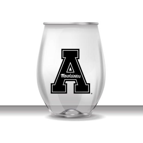 Appalachian State 16 oz Stemless Plastic Cup