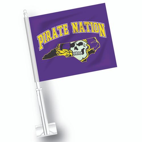 East Carolina Car Flag - Pirate Nation