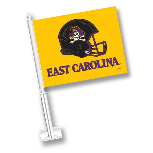 East Carolina Car Flag - Helmet