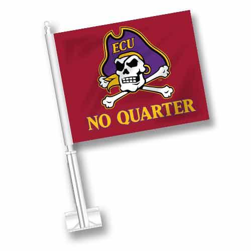 East Carolina Car Flag - No Quarter