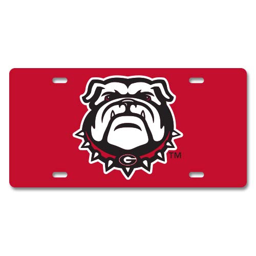 Georgia Metal License Plate - Bulldog