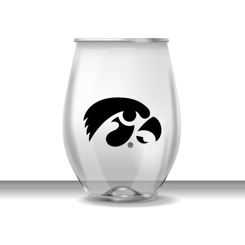 Iowa 16 oz Stemless Plastic Cup