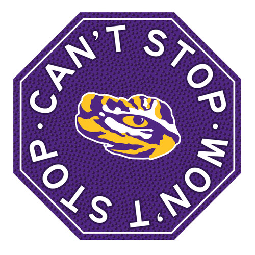 "LSU 12"" Road Sign"