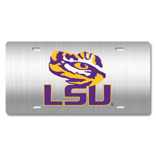 LSU Metal License Plate
