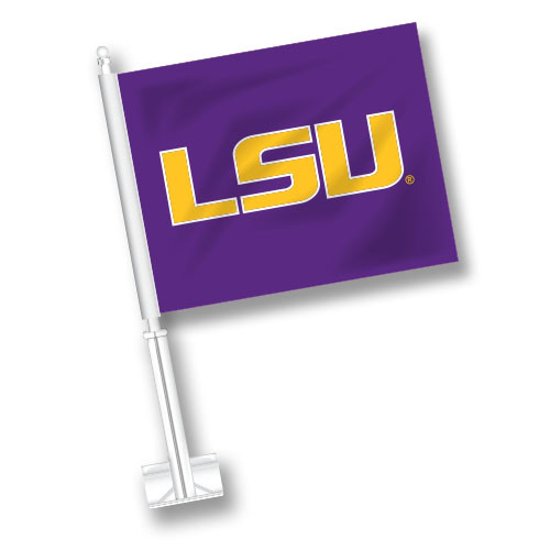LSU Car Flag - LSU
