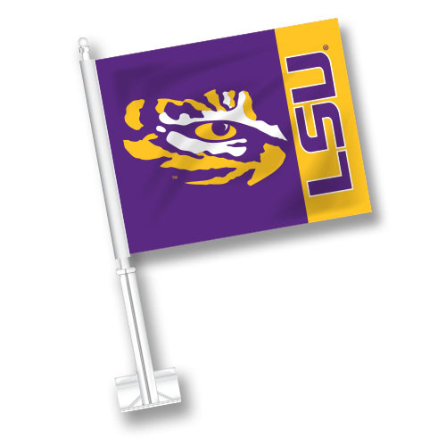 LSU Car Flag - Fly Stripe