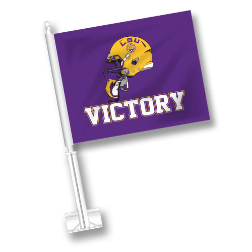 LSU Car Flag - Victory