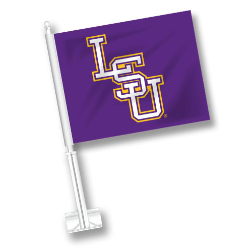 LSU Car Flag - Baseball