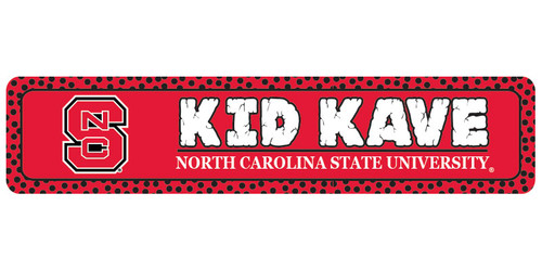"North Carolina State 4""x18"" Metal Sign"