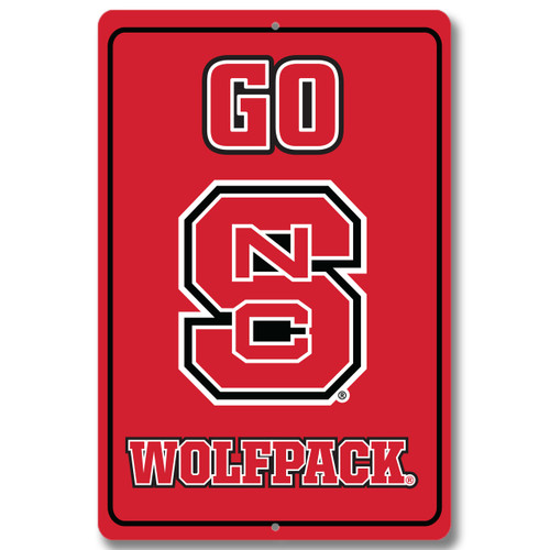 "North Carolina State 12"" x 18"" Metal Sign"