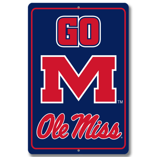 "Ole Miss 12"" x 18"" Metal Sign"