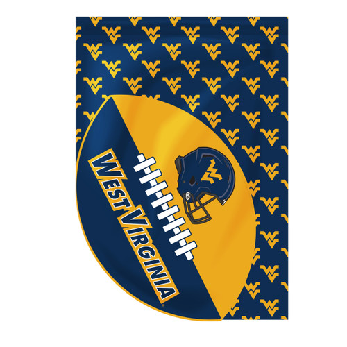West Virginia Sports Cut Garden Flag