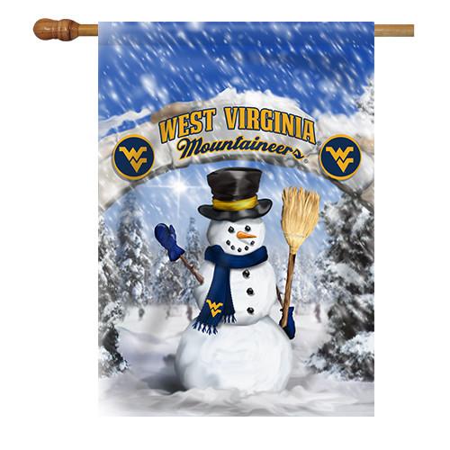 West Virginia Snowman with Broom House Flag