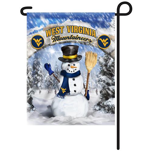 West Virginia Snowman with Broom Garden Flag