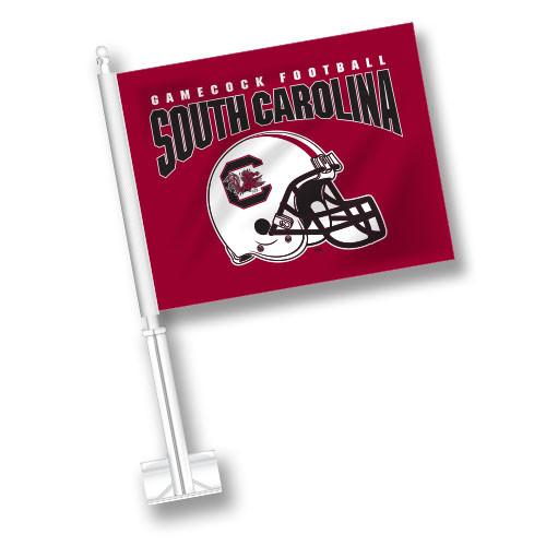 South Carolina Car Flag - Helmet