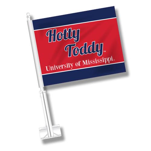 Ole Miss Car Flag - Hotty Toddy