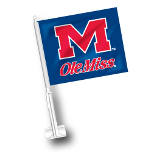 Ole Miss Car Flag - M