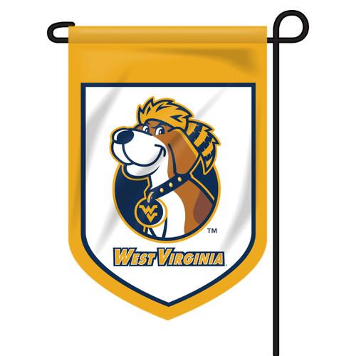 West Virginia Shield Garden Flag - Dog
