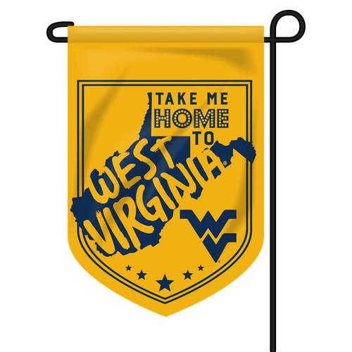 West Virginia Shield Garden Flag - Take Me Home
