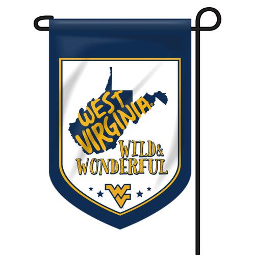 West Virginia Shield Garden Flag - Wild and Wonderful