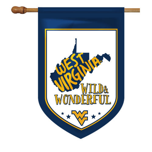 West Virginia Shield House Flag - Wild and Wonderful