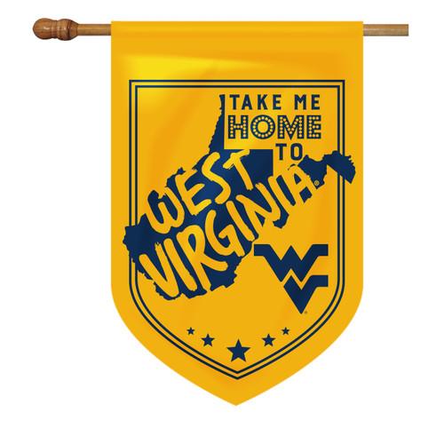 West Virginia Shield House Flag - Take Me Home