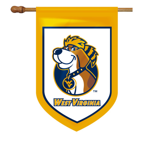 West Virginia Shield House Flag - Dog