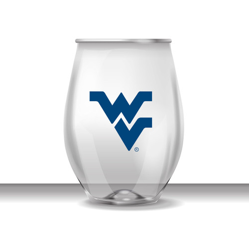 West Virginia 16 oz Stemless Plastic Cup