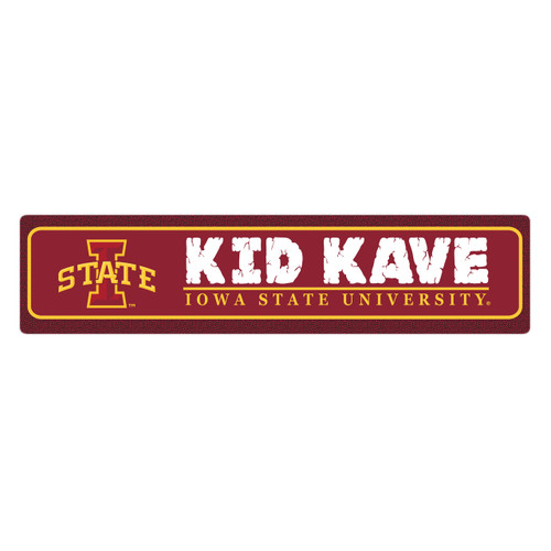 "Iowa State 4""x18"" Metal Sign"