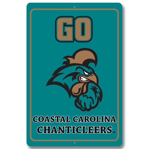 "Coastal Carolina 12"" x 18"" Metal Sign"