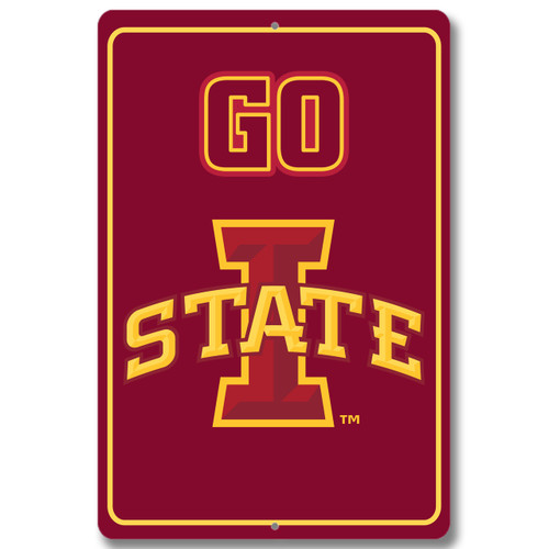 "Iowa State 12"" x 18"" Metal Sign"