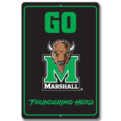 "Marshall 12"" x 18"" Metal Sign"