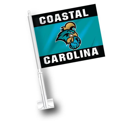 Coastal Carolina Car Flag - Top and Bottom Stripes