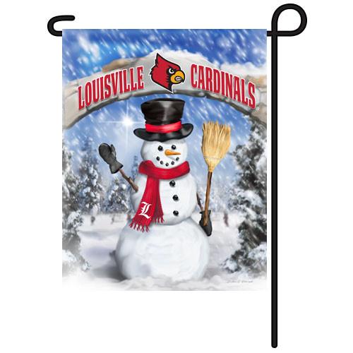 Louisville Snowman with Broom Garden Flag