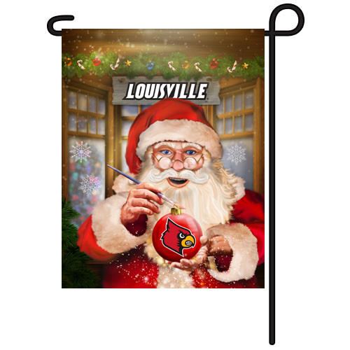 Louisville Santa with Ornament Garden Flag