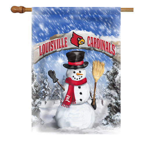 Louisville Snowman with Broom House Flag