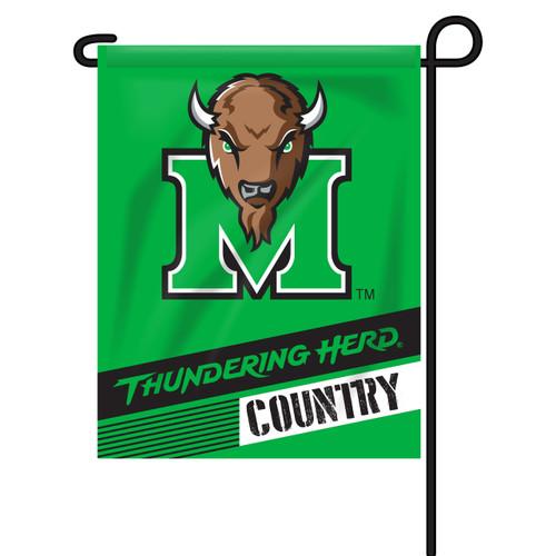 Marshall Rectangle Garden Flag - Thundering Herd