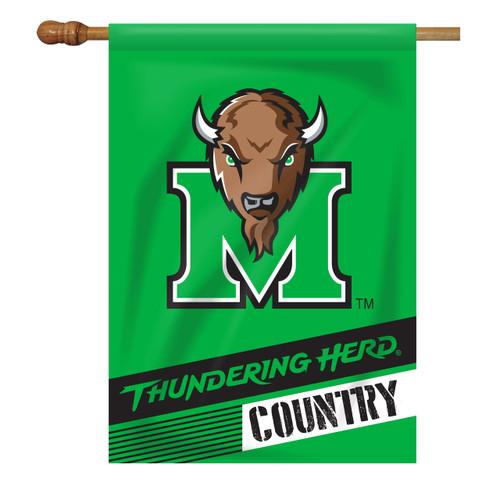 Marshall Rectangle House Flag - Thundering Herd