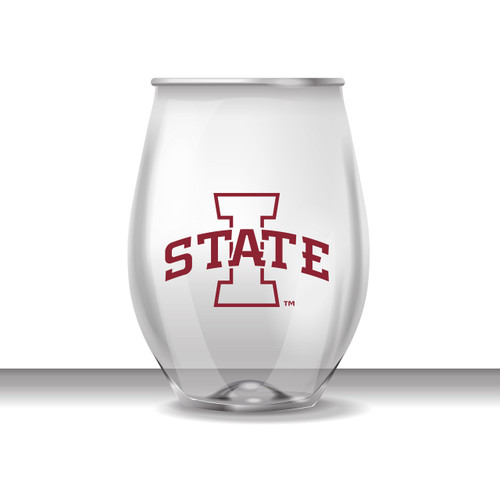 Iowa State 16 oz Stemless Plastic Cup
