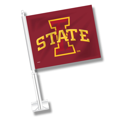 Iowa State Car Flag