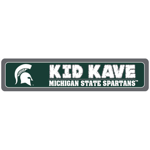 "Michigan State 4""x18"" Metal Sign"