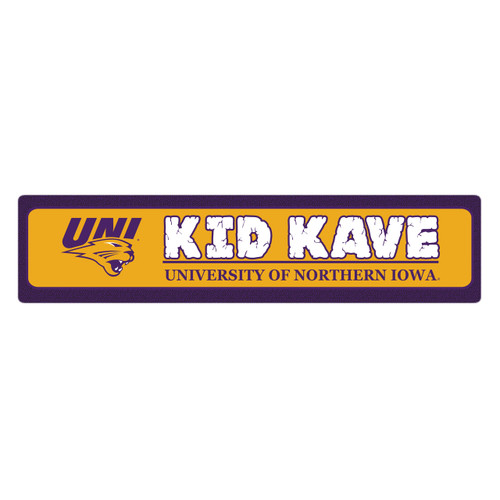 "Northern Iowa 4""x18"" Metal Sign"