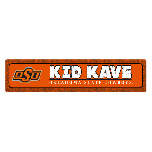 "Oklahoma State 4""x18"" Metal Sign"