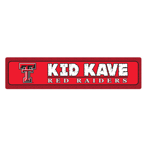 "Texas Tech 4""x18"" Metal Sign"