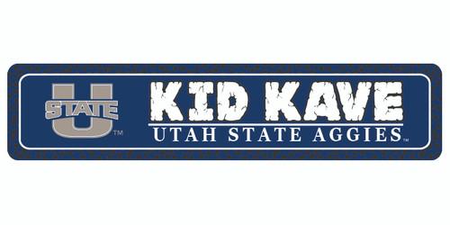 """Utah State 4""""x18"""" Metal Sign"""