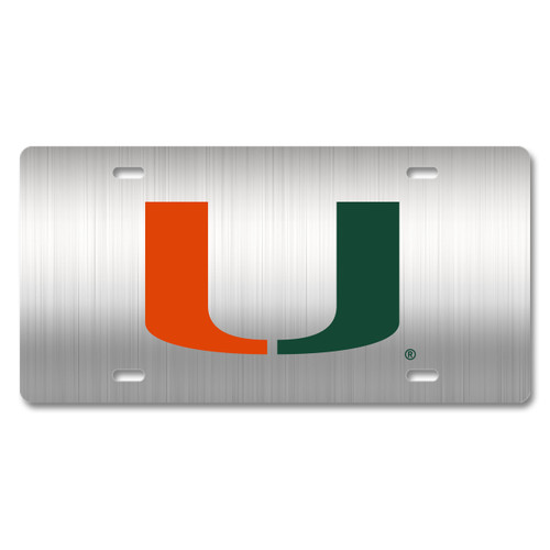 Miami Metal License Plate