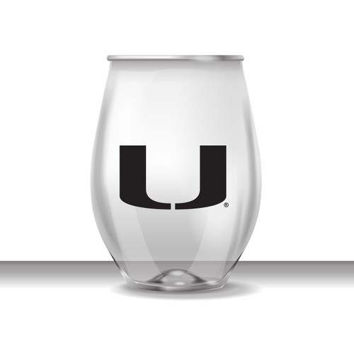 Miami 16 oz Stemless Plastic Cup
