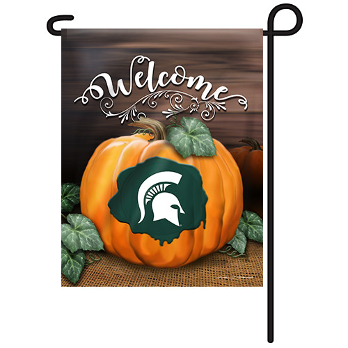 Michigan State Pumpkin Garden Flag