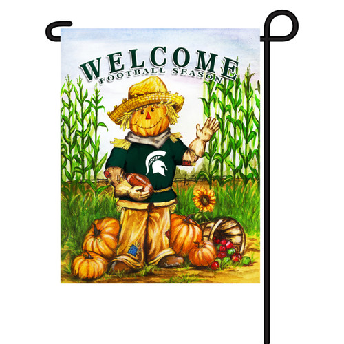 Michigan State Scarecrow Garden Flag