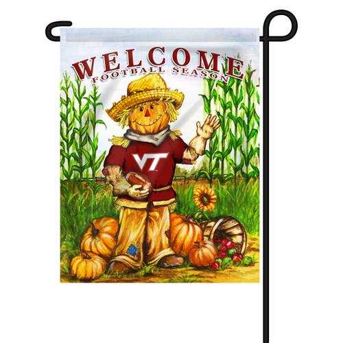 Virginia Tech Scarecrow Garden Flag